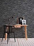 A.S. Création Vliestapete Best of Wood and Stone Tapete in Stein Optik fotorealistische Steintapete Naturstein 10,05 m x 0,53 m grau schwarz Made in Germany 914224 9142-24 - 6