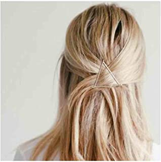 Olbye Triangle Hair Clip Dainty Gold Hair Pin Hair Accessories For Women and Girls Geometry Hair Barrette (Gold)