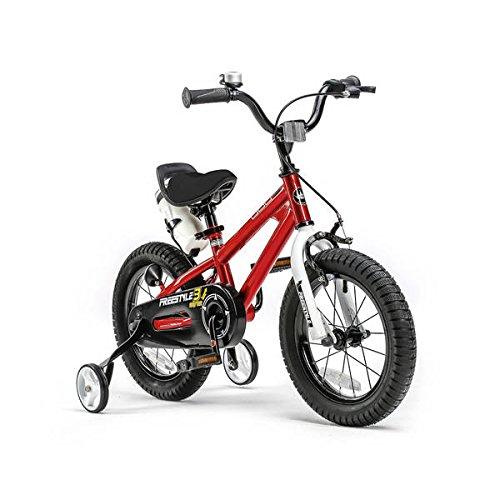 "Royal Baby Niños Freestyle Steel bicicleta infantil, color rojo, tamaño 12"""