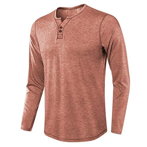 Men T-Shirt Men Shirt Loose Casual Comfortable Mixed Fiber All-Match Simple Men Sweatshirt Spring and Fall Fashion Vacation Leisure and Light Men T-Shirt Red. XXL