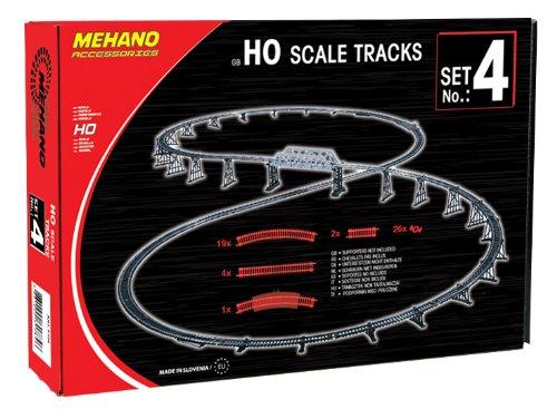 Mehano F104 - Set Binari 4, 52 Pezzi, Scala H0