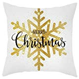 Newdiva Throw Pillow Cover 18 x 18 Inches Set of 4 - Christmas Series Cushion Cover Case Merry Christmas Short Plush Pillowcase Sofa Pad Set Home Decoration(A)