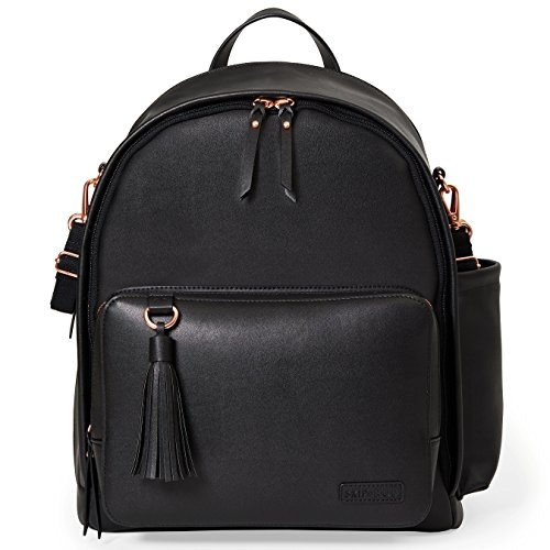 Skip Hop Diaper Bag Backpack, Greenwich Multi-Function Baby Travel Bag with Changing Pad and Stroller Straps - Black