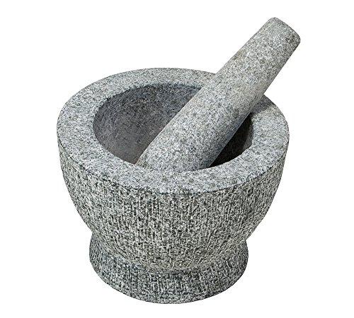KESPER 71502 Mörser mit Schlegel aus Granit - hell/Granit-Mörser/Kräutermörser