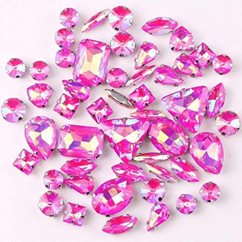 Garra de plata de la marca Jelly Candy Fucsia AB 50pcs/bolsa de...