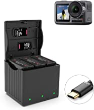 Osmo Action Battery Charger 3 Charging Box Smart Charging Station Multi Rapid Battery Storage Box Support Type-C QC3 0 Fast Charging Portable Outdoor Charging Hub for DJI OSMO Action Camera