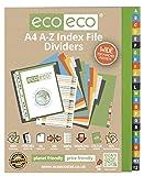 eco-eco 031 A4 50% Riciclata Set A-Z Divisori Ampio indice di File, multicolore
