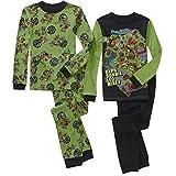 Teenage Mutant Ninja Turtles Boy 4 PC Long Sleeve Pajama Set Size 6