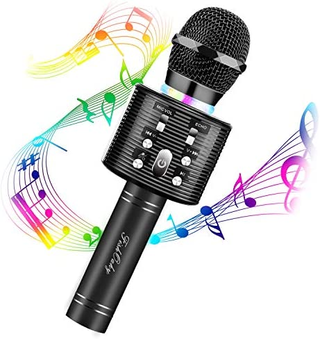 Karaoke Microphone for Kids FISHOAKY 3 in 1 Portable Wireless Bluetooth Microphone Speaker Music product image
