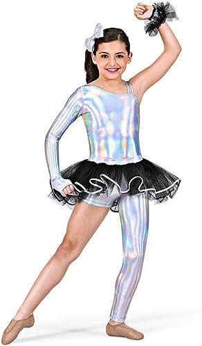 Tutu-Enfants Ballet Perforhommece Dance Robe Shine Jupe en Gaze Trois pièces irrégulière,IC