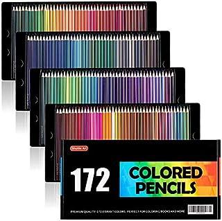 Shuttle Art 色鉛筆 カラーペン 172色セット 大人の塗り絵 スケッチ イラスト 落書き 手帳 ノード子供用 プレゼント 入園・入学お祝い カラーリスト付
