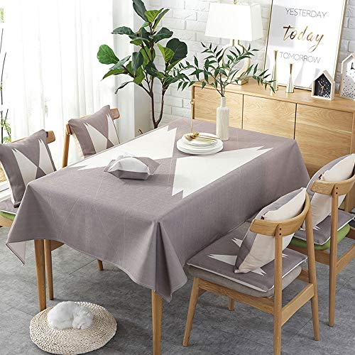 HYXXQQ rechthoekig tafelkleed/keukentafelkleed linnen, dik waterdicht en niet-vervagend, tafelblad tafel, ideaal voor keukenblad Buffetdecoratie