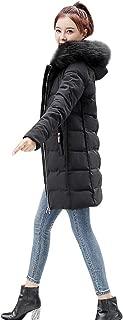 iLOOSKR Winter Fashion Hooded Coat Women Plus Size Solid Long Sleeve Jackets Cotton-Padded Coats