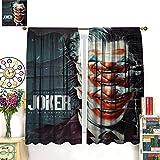 DRAGON VINES Joker Cortinas Jacques Phoenix Arthur Crime Prince 2019 - Cortinas artísticas para salas de estar, comedores, dormitorios, 140 x 160 cm