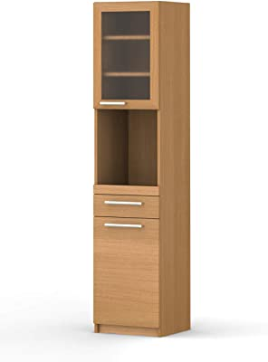 パモウナ 食器棚YC アイダホオーク 幅40.4×高さ180×奥行40 日本製 YC-S400R