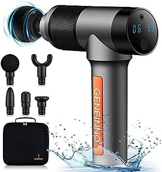 G Geneinno Waterproof Massage Gun with Pro Max Brushless Motor