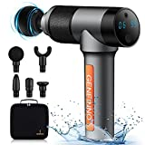 IP68 Waterproof Massage Gun: The first waterproof massage gun on the market, allowing you to conduct an underwater SPA that can relax your muscles whether you are in a swimming pool or a bathtub. The effect of muscle relaxation performed underwater w...