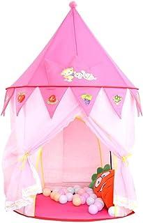 JBHURF Tente pour Enfants, Tente pour Enfants, Maison de Jeux, yourte, Prince et Princesse, château de Jeu, Maison de Ramp...