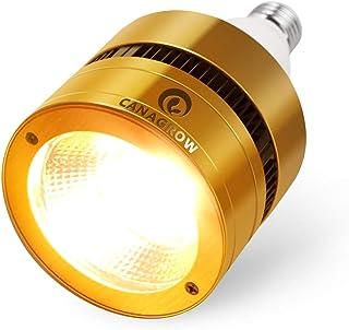 CANAGROW 300W COB LED Grow Light Bulb, Full Spectrum Grow Lights for Indoor Plants, E26 Sunlike Plant Grow Bulb, Aluminum ...