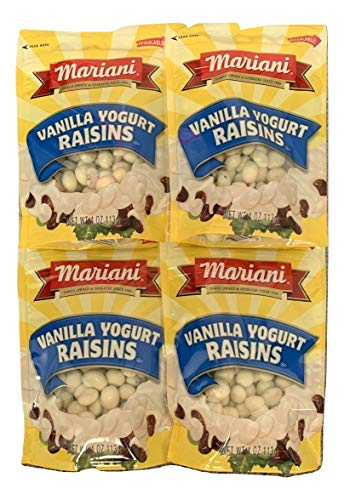 Mariani Vanilla Yogurt Raisins 4 oz (Pack of 4)