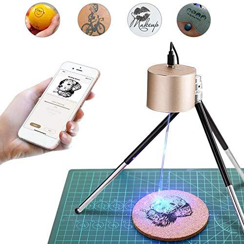 LaserPeckeレーザー彫刻機 1600mW 小型レーザー刻印機 手軽 高性能高解像度 DIY道具 加工機 無線Bluetooth/iOS/Android/USB接続用 使用寿命連続10,000時間以上 色々な素材 ギフト 保護メガネ付き アプリ操作