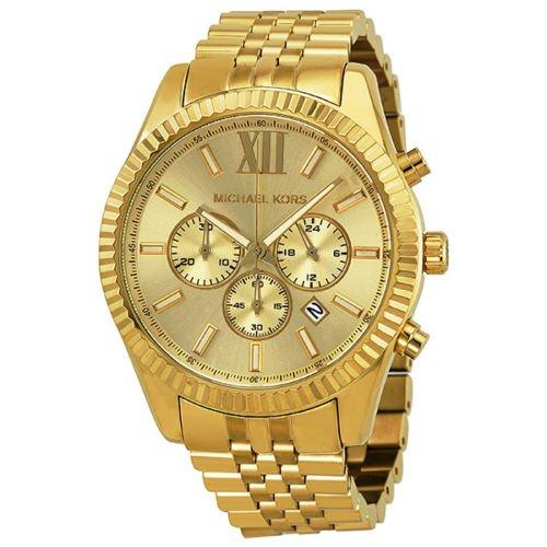 Michael Kors Michael Kors Lexington Chronograph Champagner Zifferblatt Mens Watch MK8281