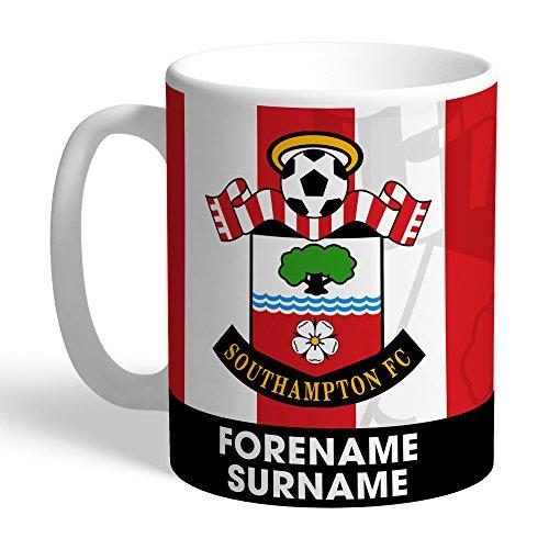 Official Personalised Southampton FC Bold Crest Mug