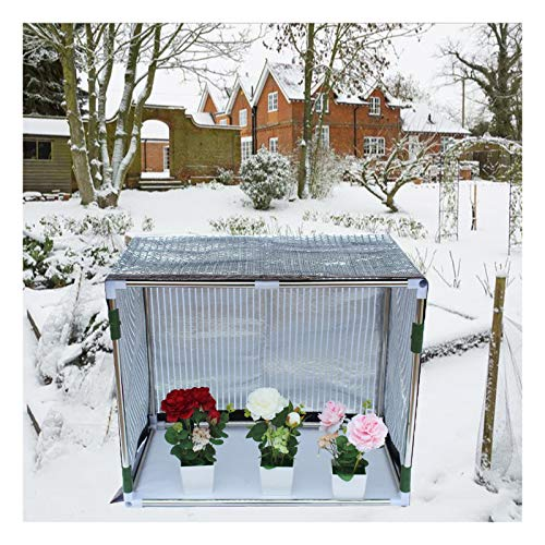 Green House For Plants Outdoor,cold Frames and Mini Greenhouses Keep Warm Sun Protection Aluminum Foil Shade Net Mini Greenhouse Portable Shading Rate 70%, 16 Sizes