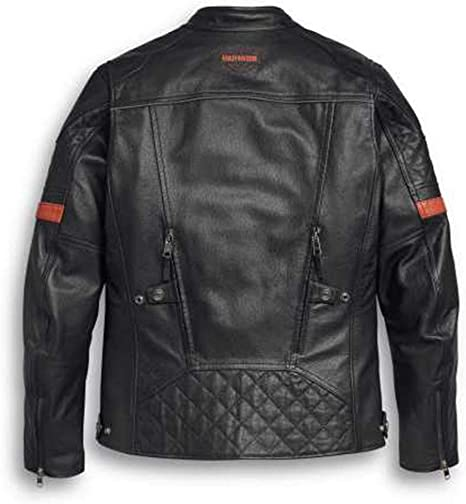 Harley Davidson Vanocker Motorradjacke Lederjacke Protektoren Wasserdicht M Auto