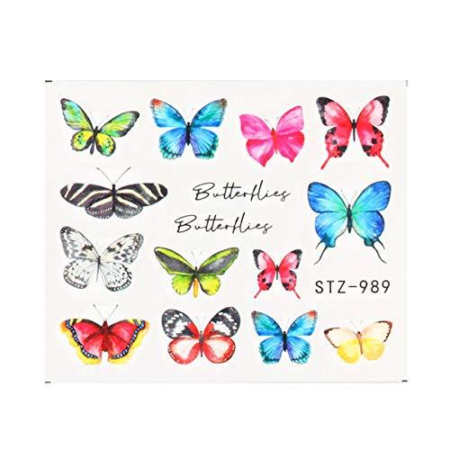 BGPOM Nail Watermark Sticker Couleur Butterfly Nail Sticker Nail Watermark Decal 10 pièces/Ensemble, STZ-989