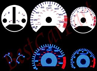 Blue INDIGLO GAUGES for 98-02 Honda Accord L4 at Carbon