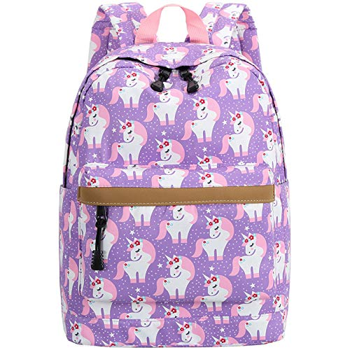 Preschool Backpack for Kids Girls Toddler Backpack Kindergarten School Bookbags (Cute unicorn-Purple)