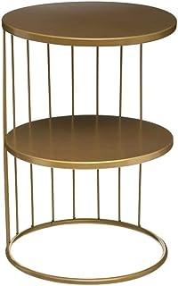 Atmosphera - Table d'appoint Design et Originale en métal Doré Kobu H 52 cm Archi féminin