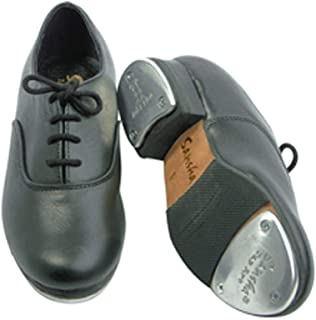 Black Full Leather Oxford Tap Dance Shoe Toddler Girls 6M-5M
