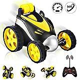 TTMOW Ferngesteuerte Auto, RC Stunt Auto Fernbedienung 360°Drehung, 2.4GHz Ferngesteuertes Rennauto für Kinderspielzeug für Jungen Mädchen (Gold)