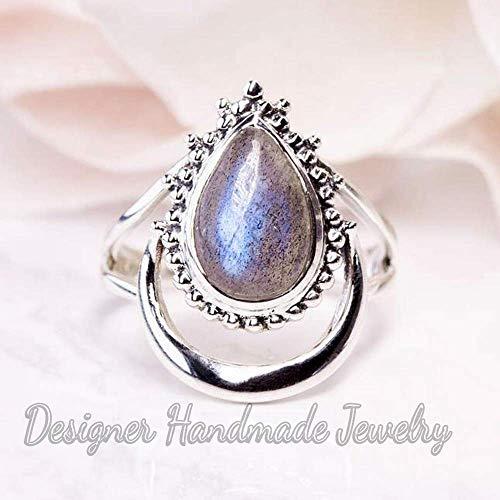 Smokey Quartz Sterling silver 925 Half Moon Ring crescent moon ring bohemian boho quartz ring smoky half moon ring birthday gift for her