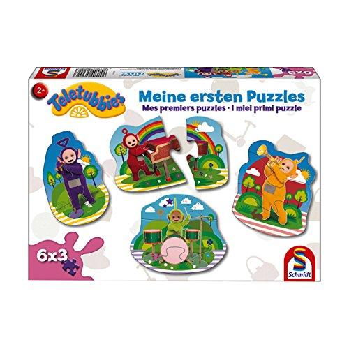 Schmidt Spiele Puzzle 56242 Teletubbies, Meine ersten Puzzles, 6x3 Konturpuzzleteile