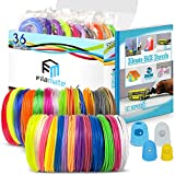 Filamate 3D Pen Filament - 36 Different Colors of 1.75mm PLA Plastic - 3D Pen Refills with Stencils - 360 Feet of Assorted Filament: 0.02mm Tolerance for 3D Drawing and Doodling