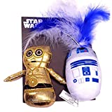 Silver Paw Star Wars C-3PO and R2-D2 Character 2 Pack Cat Toy Set with Catnip