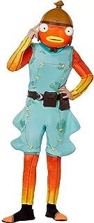 Smarthome Kids Fishsticks Halloween Costume Jumpsuit (with 2 Accessories) Large Orange