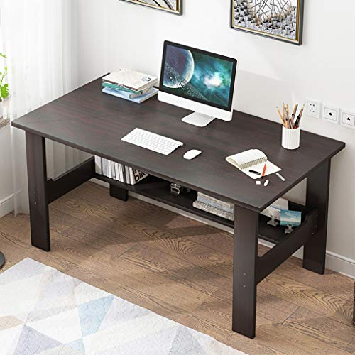 Home Office Desk 40 inch - Modern Desktop Computer Desk Gaming PC Laptop Desk Work Table,Home Bedroom Furniture-Workstation-Students Study Writing Desk Wood Table Ship from US (Black)