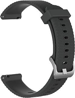 EUdinghaonuo Bracelet de Rechange en Silicone Souple 20 mm pour Garmin Fenix 5S