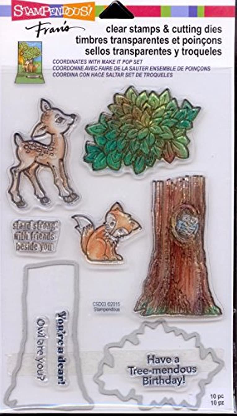 STAMPENDOUS Clear Stamps & Cutting Dies - In The Woods