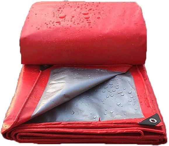 GLP Tissu de Pluie épaissi Tissu publicitaire Tissu de bache imperméable Parasol Rouge Affichage Bache de Mariage Remise Truss Cloth rouge (160g   m2 (± 10), épaisseur  0.23mm) (Taille   5x8m)