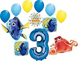 Finding Dory Party Supplies 3rd Birthday Balloon Bouquet Decorations
