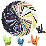 Cizen Origami, Manualidades de Origami, 170 Hojas de Papel de Origami Cuadrado, 50 Colores Vivos +7 Tipos Cielo Estrellado - 15 * 15 cm
