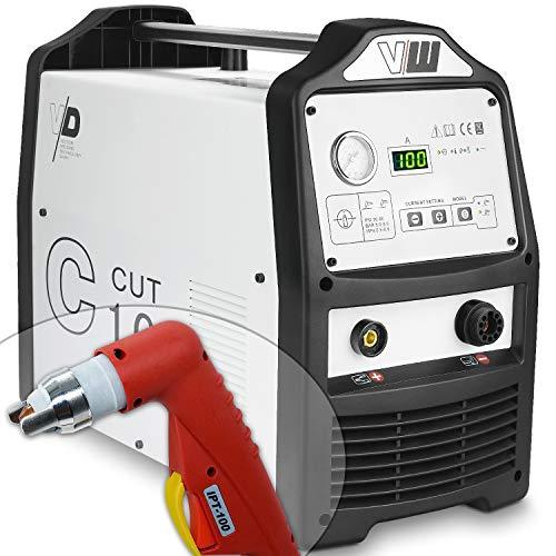 Plasmaschneider Plasmaschneidgerät CUT Cutter 100 Ampere - Zum Schneiden von Aluminium - Stahl - Metall - Blech bis 45mm Stärke von Vector Welding
