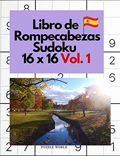 Libro de rompecabezas Sudoku 16 x 16 Vol. 1