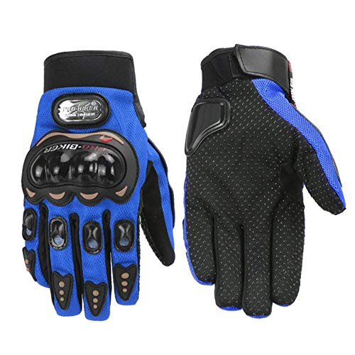 Motorcycle Gloves Waterproof Winter Gloves Warm Wool Lining Winter Touch Screen Non-Slip Riding Gloves-A6-Xl