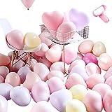 100pcs Globos Pastel Globos macarrón Pastel Color Globo con Bombas y anudadores para Graduaciones, Fiestas, cumpleaños,Navidad,día de San Valentín, Fiesta Decoraciones